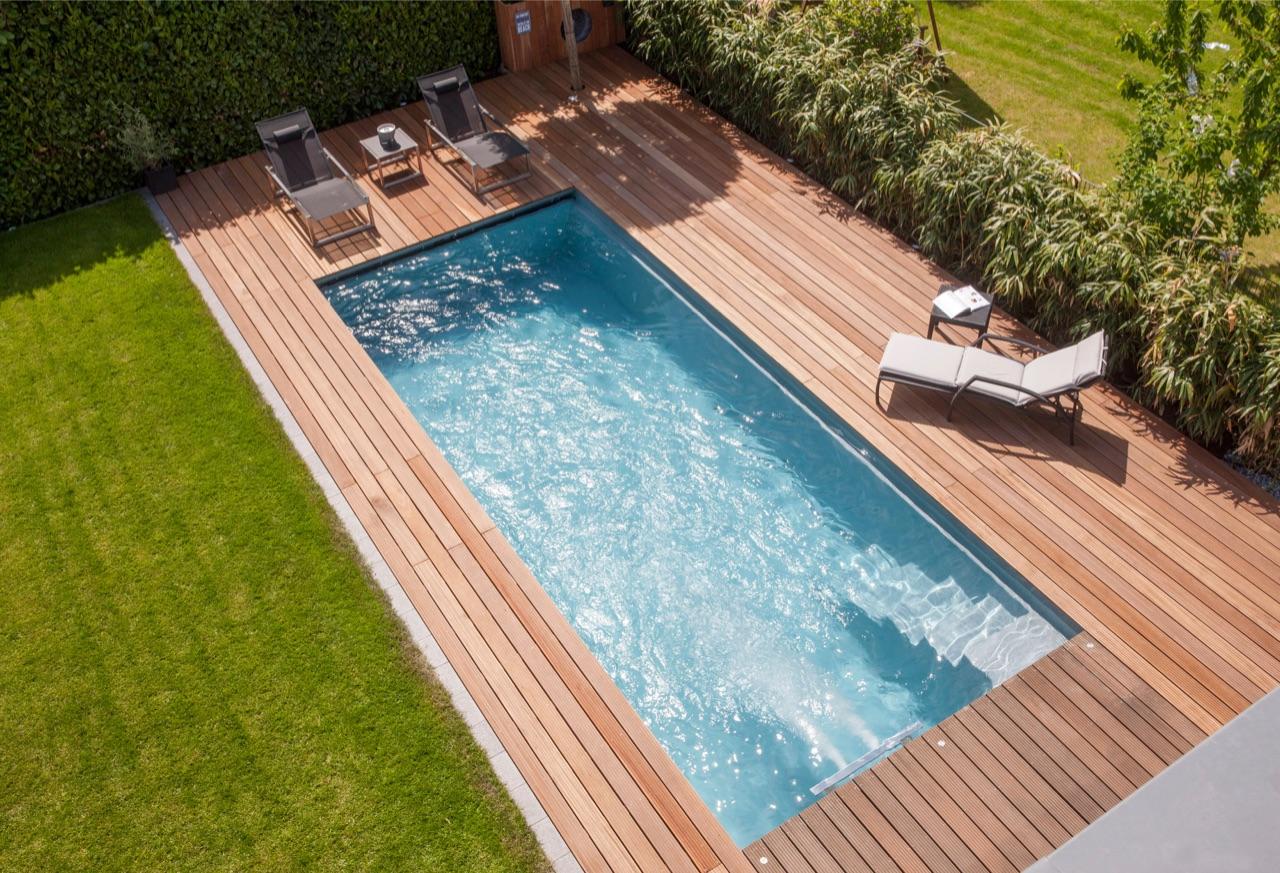 swimmingpool design ideen flachen, fertigbecken - servicetech gmbh, Design ideen